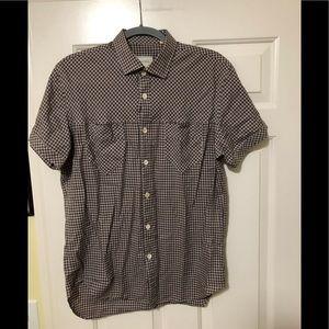 Billy Reid designer short sleeve shirt M